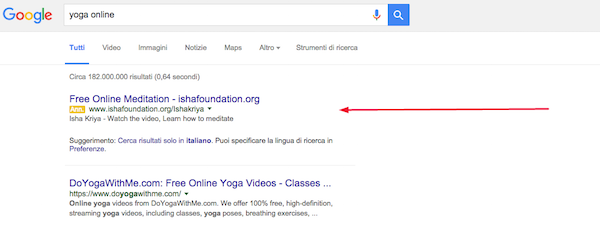 yoga adwords