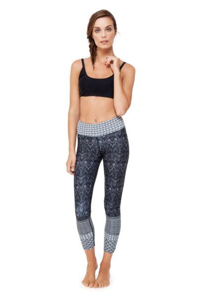 DBLGPRT483FL_20170217044122735 Black Free Spirit High Waist Printed Yoga Legging - 7_8