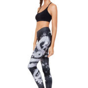 Leggings vita alta stampa Dragone