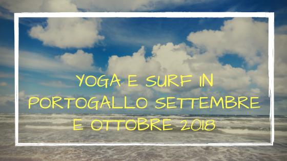 Yoga e surf in Portogallo a settembre e ottobre 2018